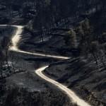 Los montes de Andilla han quedado completamente quemados